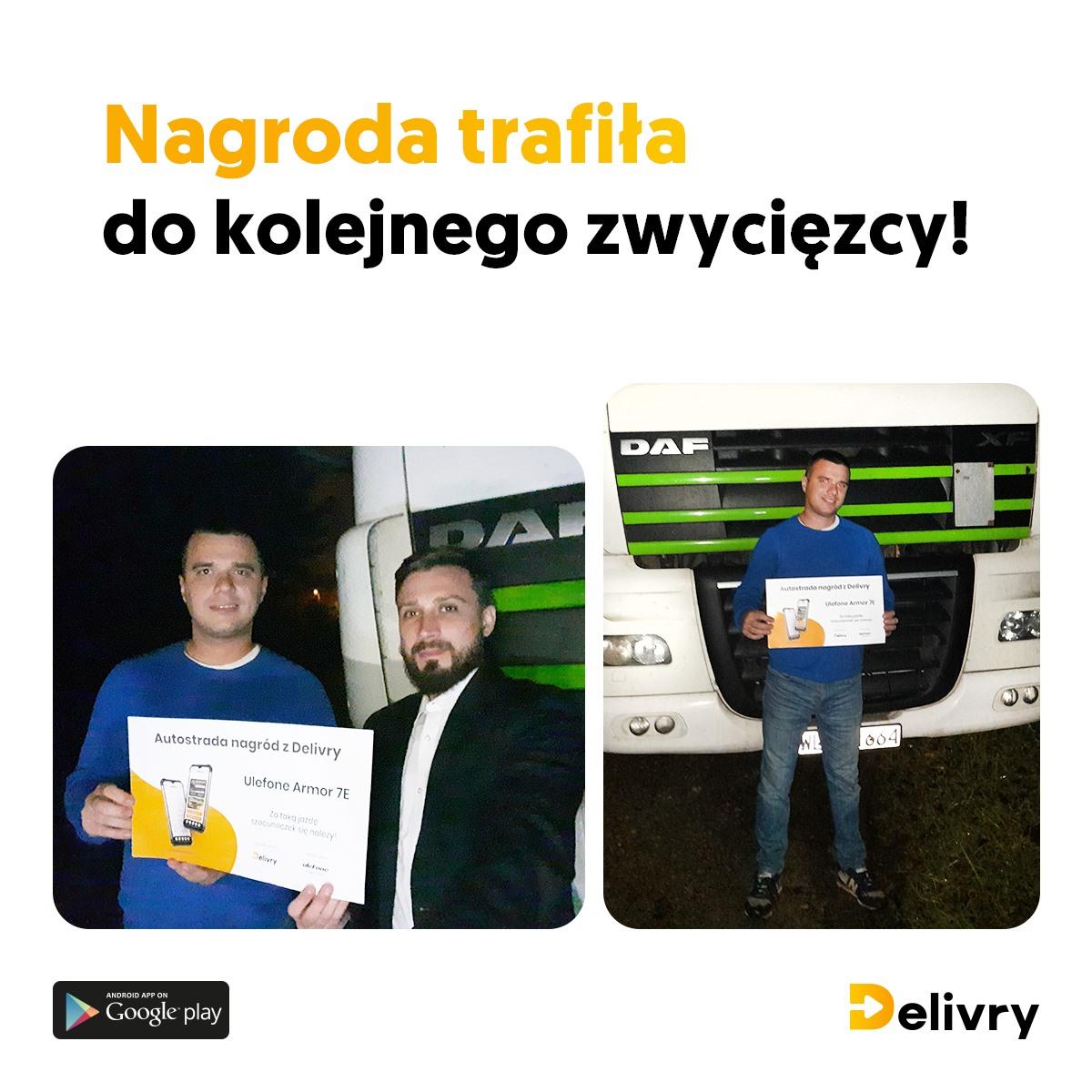 zwycięzca konkursu trzyma voucher